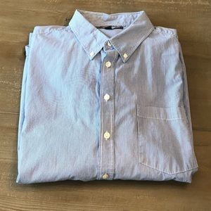 Old Navy Blue/White Striped Shirt - Size XL